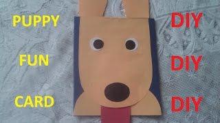 DIY : Открытка СОБАКИ на Новый Год *** Puppy Fun Card *** Открытка своими руками