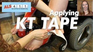 KT Tape Applied to Feet to Reduce Edema