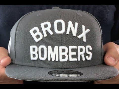 finest selection 5963e 3b06d New York Yankees BRONX BOMBERS SNAPBACK Charcoal Grey Hat