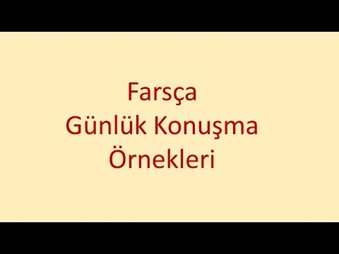Farsça Günlük Konuşma Örnekleri-22: Fars Dili (Altyazılı)
