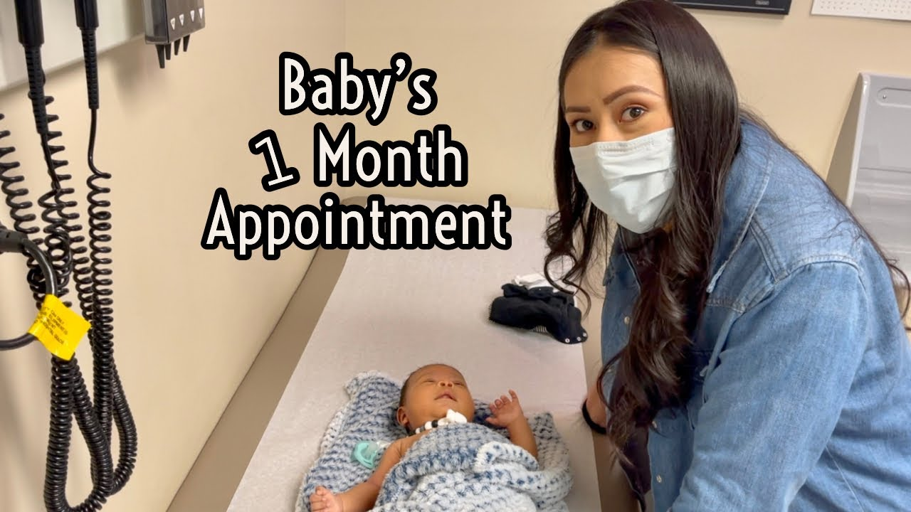 Baby's One Month Appointment + Finally Getting Out!