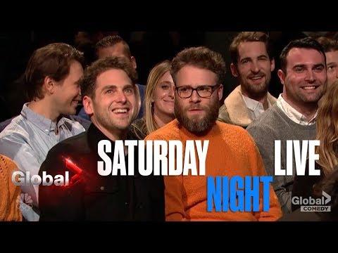 Download Youtube: SNL - Seth Rogan, Jonah Hill, Steve Martin Crash James Franco's Monologue | Saturday Night Live Skit