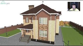 видео Проект кирпичного двухэтажного дома площадью 293.20 м2