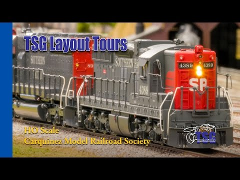 HO Scale DCC Train Layout Tour Carquinez Model Railroad Society CMRS