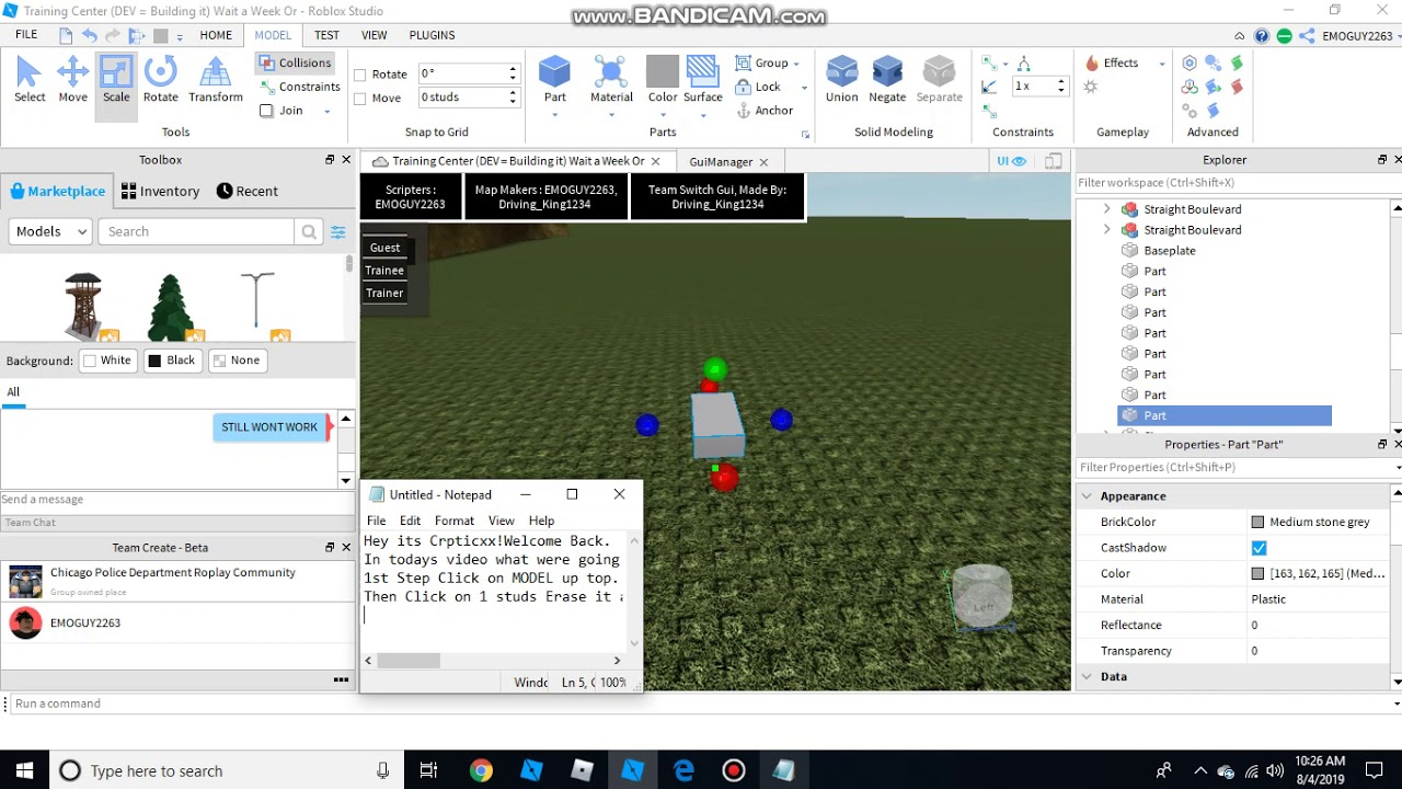 How To Make A Thin Block In Roblox Studio No F3x Youtube