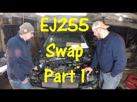 EJ255 DOHC Engine Swap   Subaru Outback XT Part 1
