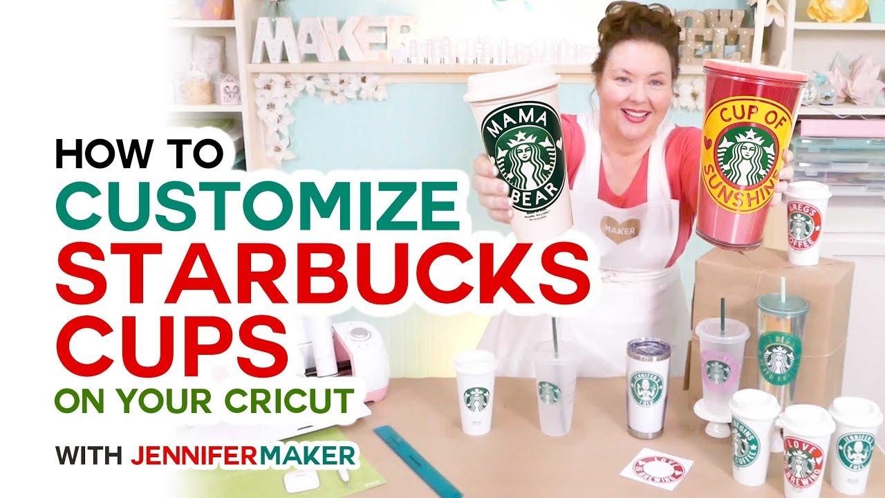 Diy Customized Starbucks Cups Decals On A Cricut Youtube
