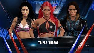 WWE 2K17 - Melina VS Eva Marie VS Nia Jax