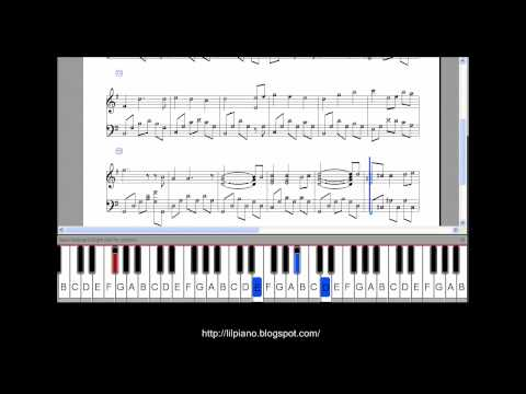 Spirited Away,  Waltz of Chihiro Piano Tutorial  (normal speed)