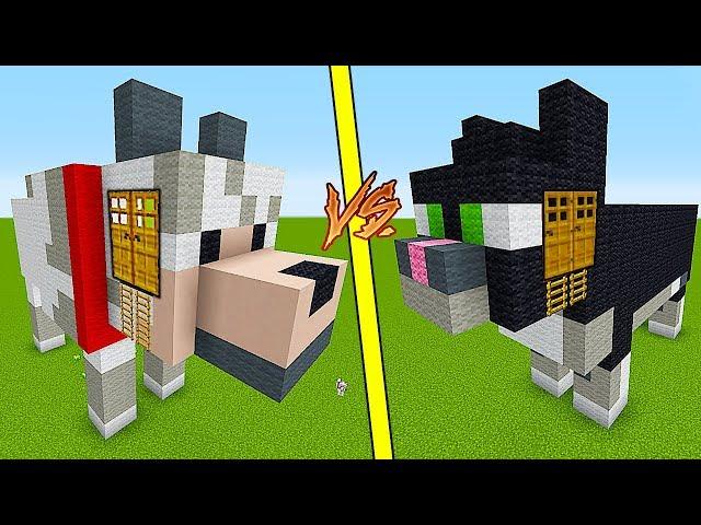 мультики майнкрафт строить дома