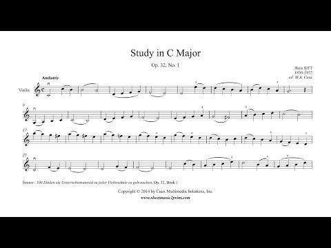Sitt : Study Op. 32, No. 1 - Violin