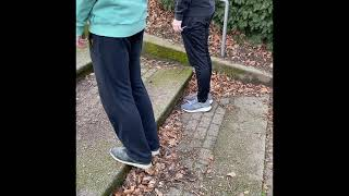Wadendehnung/-kräftigung Treppe Münster Abteiberg - Muskelkater Rundweg
