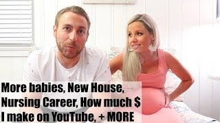 Q & A // MORE BABIES, NEW HOUSE, HOW MUCH MONEY I MAKE ON YOUTUBE, ETC // BEAUTY AND THE BEASTONS