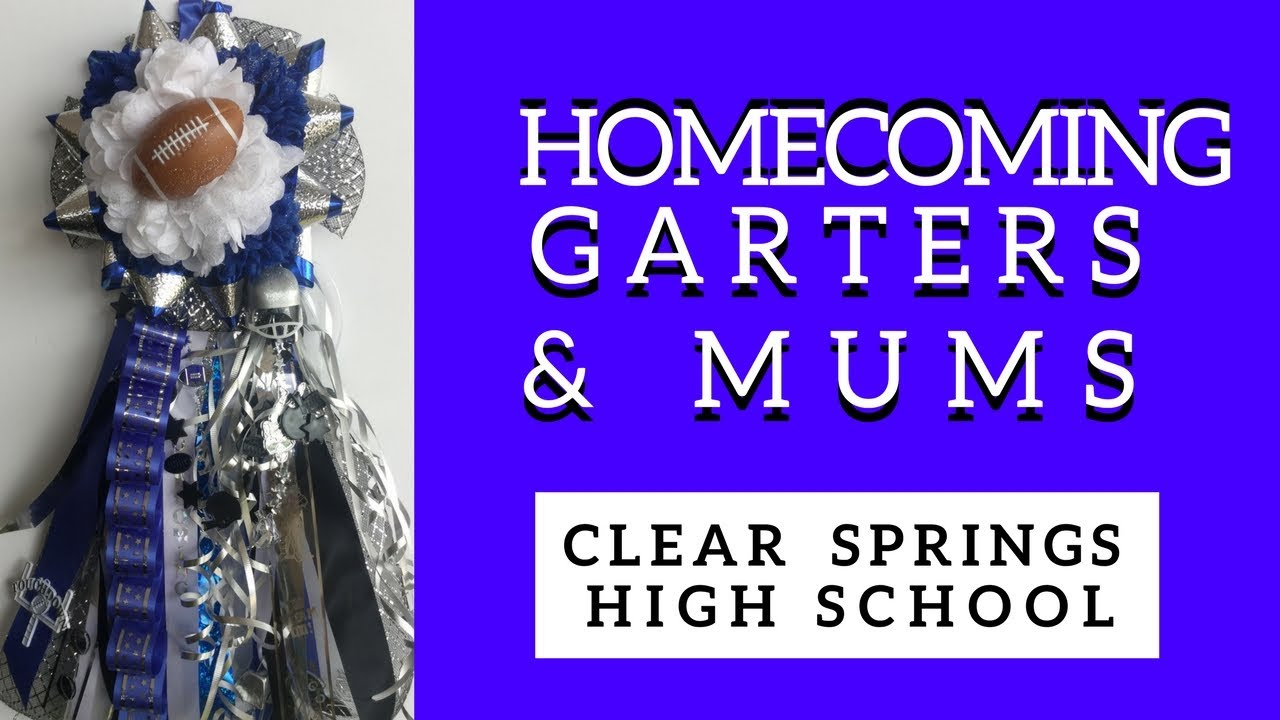 Clear Springs Homecoming Mums Blue Black High School Football