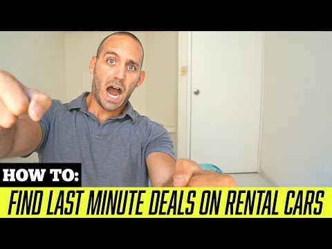 TRAVEL TIPS: How to Find Last Minute Rental Car Deals