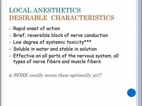 20151124 Local Anesthetic Pharmacology Grider