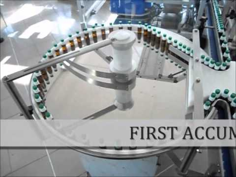 Continuous production line for liquid