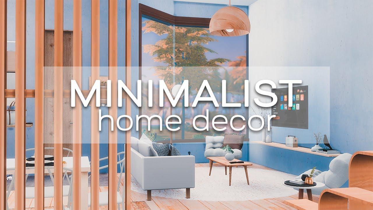 ⚪️ MINIMALIST HOME DECOR | STOP MOTION + CC LINKS | SIMS 4 ...