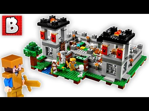 Lego Minecraft The Fortress Set 21127 | Unbox Build Time Lapse Review