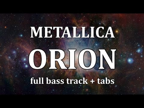 Metallica Orion bass only FULL isolated track of Cliff Burton + bass tabs play along