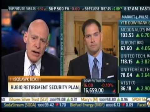 Rubio Discusses Retirement Security, Clinton's Record & Climate Change On CNBC's Squawk Box