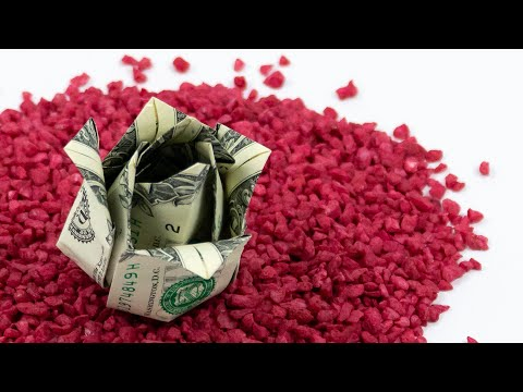 Money Origami Rose Making With Dollar Bills 🌹 EASY