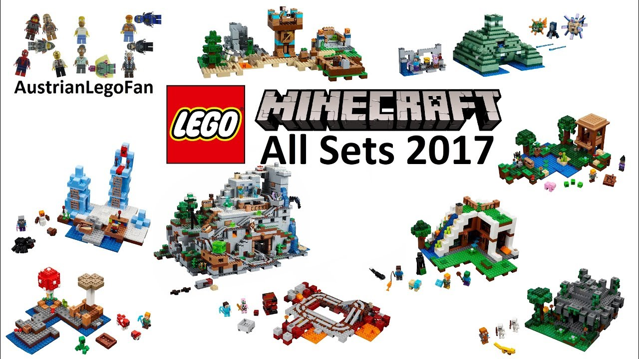 Lego Minecraft 2017 Compilation of all Sets