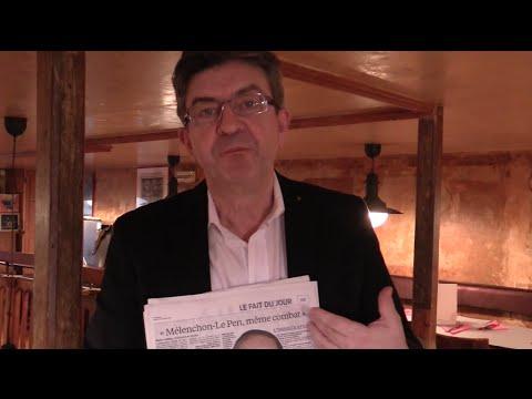Mélenchon : « Pierre Gattaz rend service à Madame Le Pen »