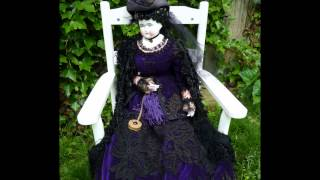 ANTIQUE GERMAN LOW BROW CHINA DOLL WITH VICTORIAN CLOTHING