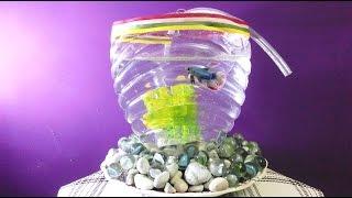 DIY BIG Aquarium of plastic bottle || CrazyIndianHacker