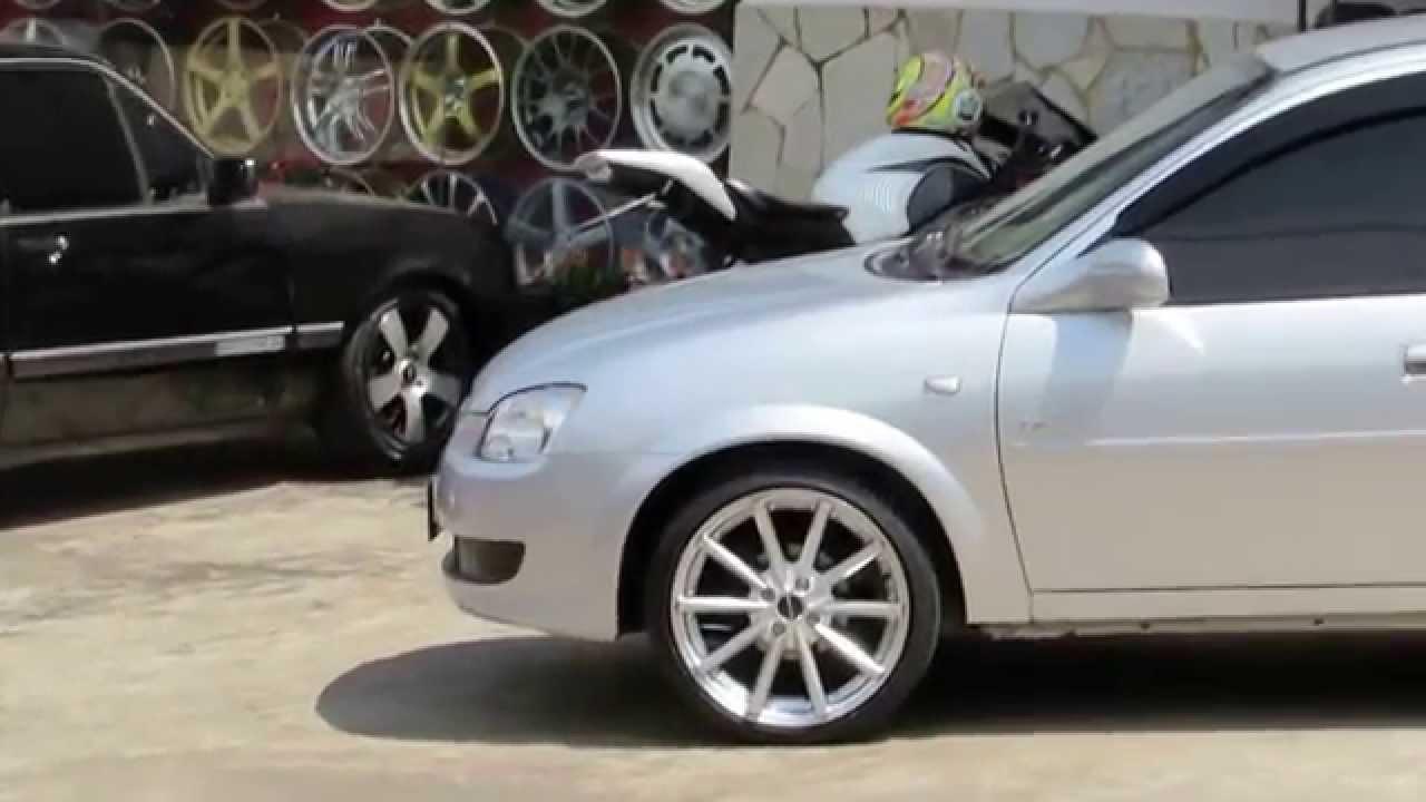 Corsa classic rodas pdw eclipse aro 17 pneus delinte 195 40r17 molas red coil youtube