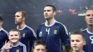 National Anthem Flower of Scotland - Scotland 2 - 3 Spain Euro 2012
