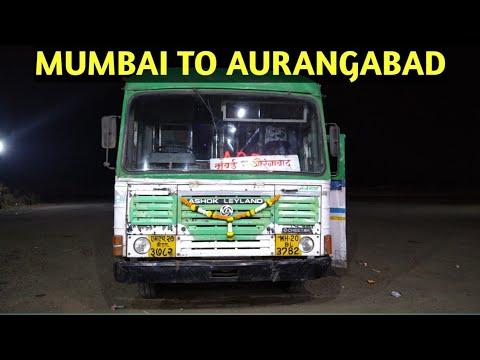 MUMBAI TO AURANGABAD SEMI LUXURY BUS FULL JOURNEY | MSRTC BUSES MAHARASHTRA