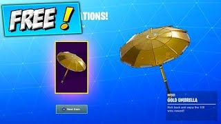 How To Get GOLDEN UMBRELLA (THE TRUTH) Fortnite FREE Gold Umbrella 100 Wins UNLOCK / REWARD SEASON 8