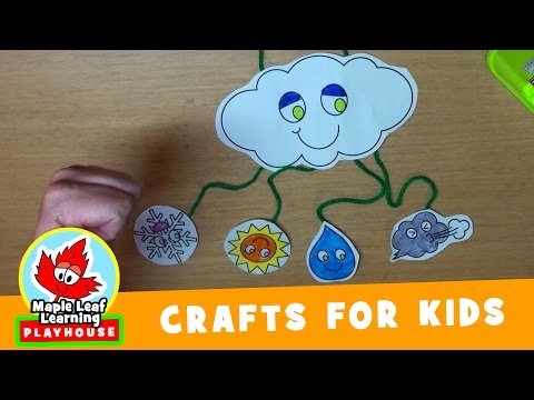 Weather Mobile Craft for Kids | Maple Leaf Learning Playhouse