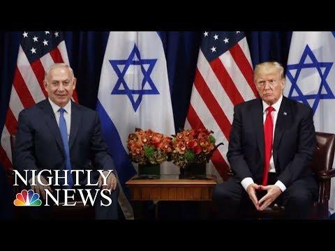 President Donald Trump Recognizes Jerusalem As Israel Capital, Delay Embassy Move | NBC Nightly News
