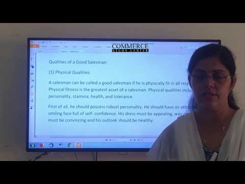 Class 12 Business Studies Chapter 11 Qualities of a good sales man in Marketing Management