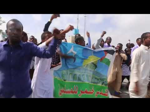 Somalis protest US Jerusalem move in Mogadishu