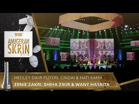 Medley Dikir Puteri, Cindai & Hati Kama - Ernie Zakri, Shiha Zikir & Wany Hasrita | #ASK2018