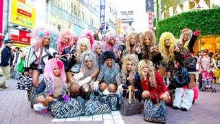 Gyaru Interview - Japanese Kuro Gyaru Unit Black Diamond in Shibuya
