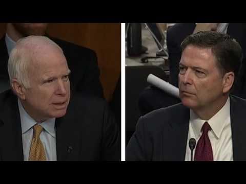 Senator John McCain's Bizarre questioning of former FBI Director James Comey