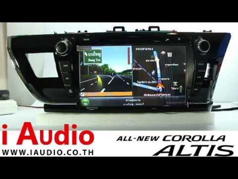 เครื่องเสียงรถยนต์ toyota altis 2015 เฉพาะรุ่น โตโยต้า อัลติส 2015 ทีวี ดิจิตอล