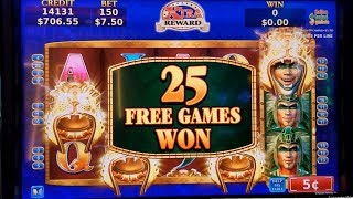 KONAMI WILD AZTEC Slot Machine $7.50 Max Bet Bonus Won | Live Slot Play w/NG Slot