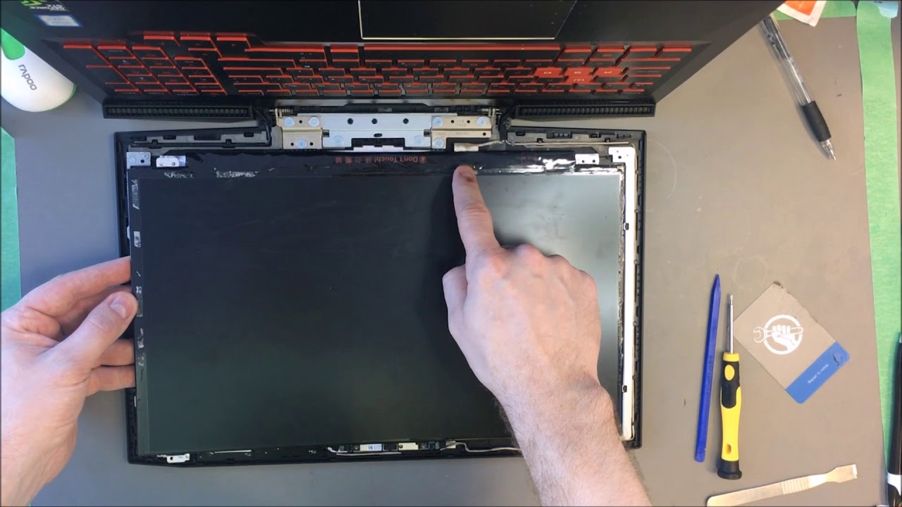 Laptop screen replacement / How to replace laptop screen HP OMEN 15-ce020ca