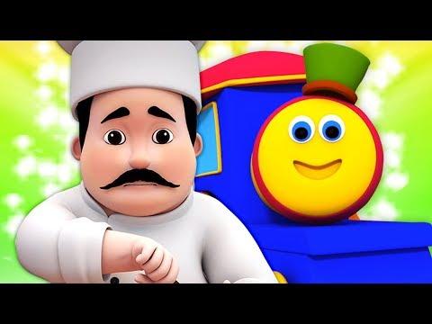 Bob il treno | l'uomo focaccina | canzoni per bambini | Bob Train Muffin Man | Kids Tv Italiano