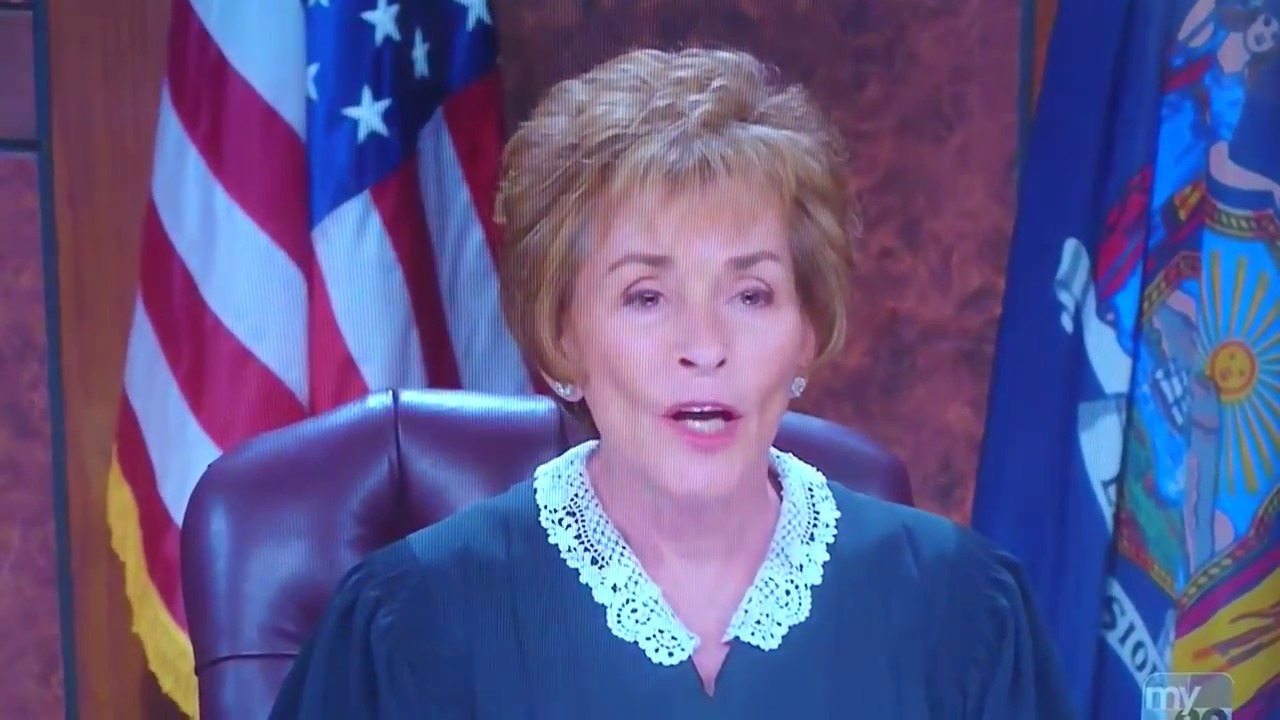 Judge judy is an asshole possible and