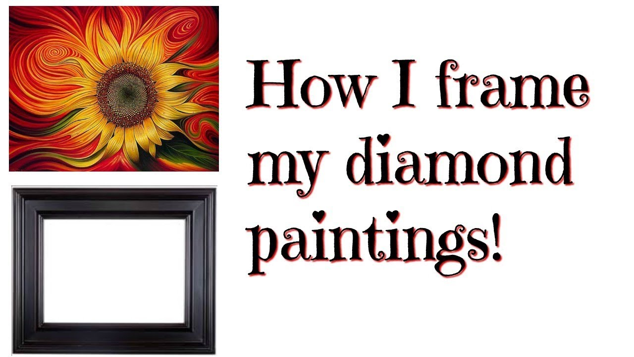 How I frame my diamond paintings (using a wood frame)!! - YouTube