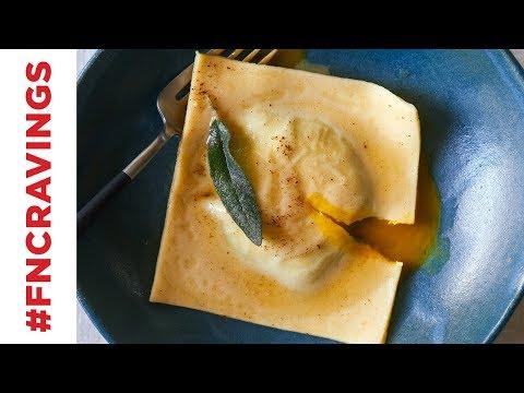 Egg Yolk-Stuffed Ravioli | Food Network