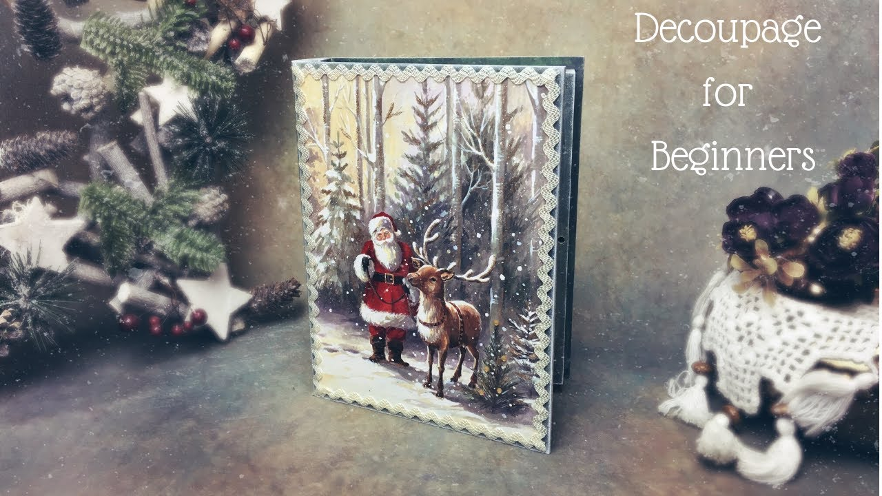 EASY DECOUPAGE TUTORIAL FOR BEGINNERS | CHRISTMAS DECOUPAGE ON WOOD
