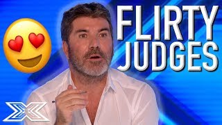 X Factor Judges Get FLIRTY With Contestants | X Factor Global